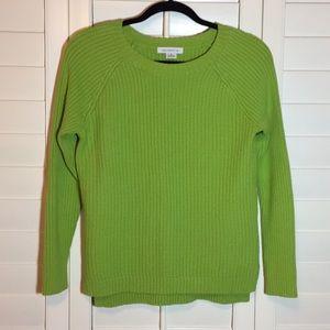 💚🍀Liz Claiborne Crew Neck Cable Knit Sweater